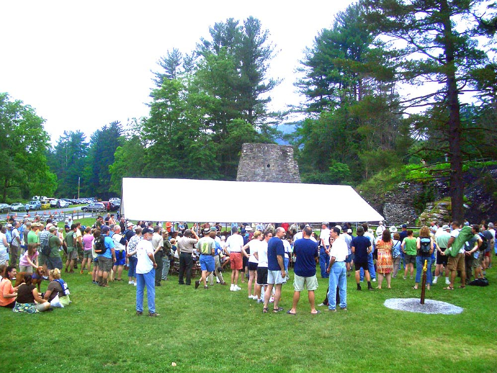 Opening Ceremony between the Appalachian Trail Museum and the Pine Grove Furnace.